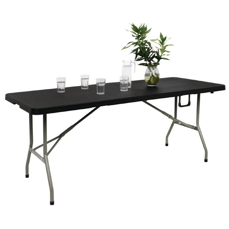 bolero buffet tisch klappbar 183 cm schwarz 86 24. Black Bedroom Furniture Sets. Home Design Ideas