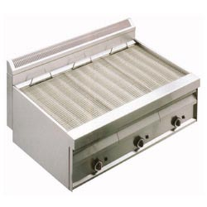 Gas Vaporgrill mit Rost in O-Form -Top-