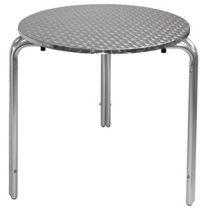 Bolero Tisch Edelstahl, rund, 80 cm, 86,24 €